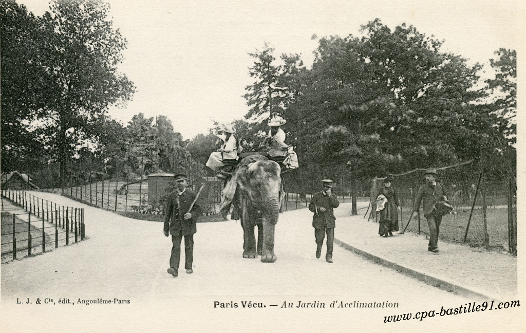 Paris v cu au jardin d acclimatation cartes postales for Au jardin paris