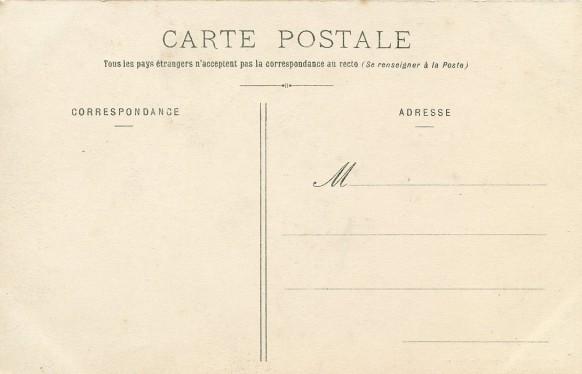 Dos séparé : Carte éditée aprés décembre 1903