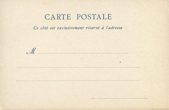 Carte éditée avant décembre 1903