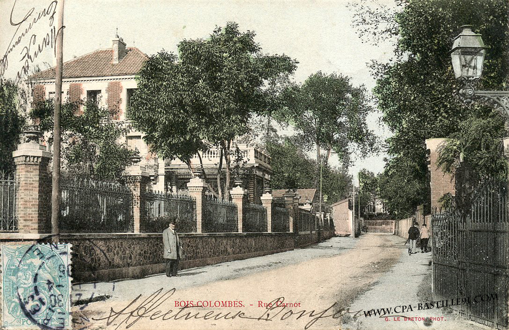 BoisColombes – Rue Carnot  Cartes Postales Anciennes ~ Auto Ecole Bois Colombes