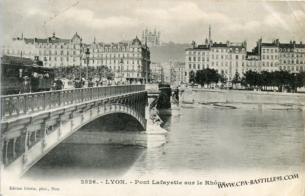 Bien-aimé Lyon – Pont Lafayette sur le Rhône | Cartes Postales Anciennes QZ05
