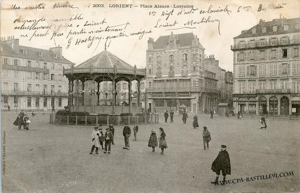 Lorient - Place Alsace - Lorraine   Cartes Postales Anciennes