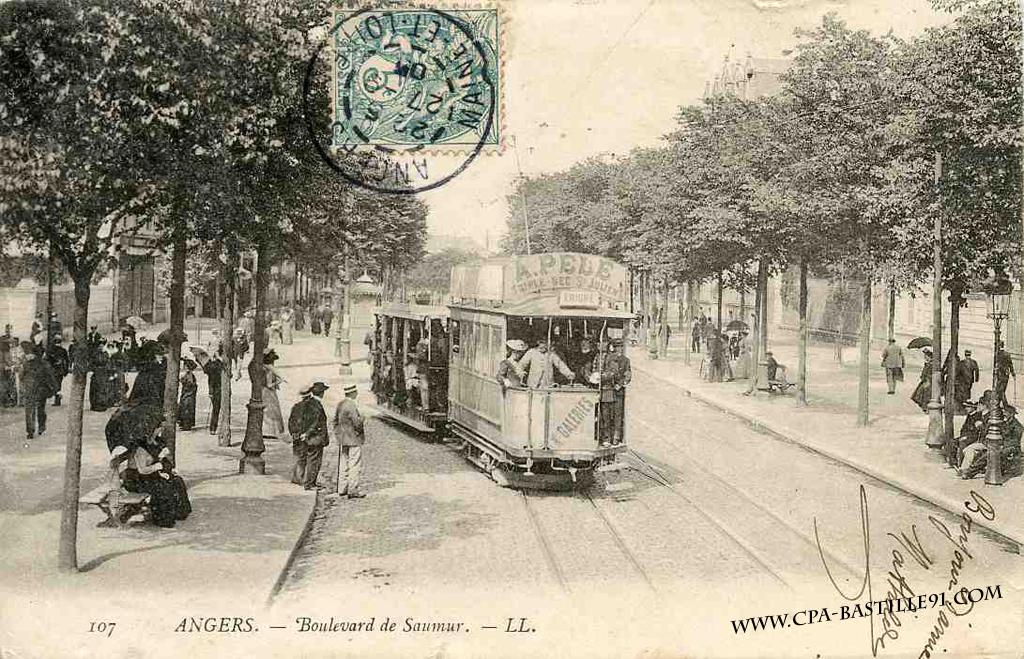 Angers boulevard de saumur cartes postales anciennes for Caisse a outils vide angers