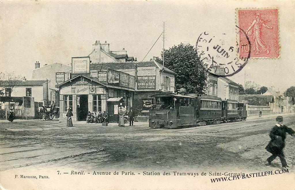 Rueil station des tramway de saint germain cartes - Les pyramides avenue de saint germain port marly ...