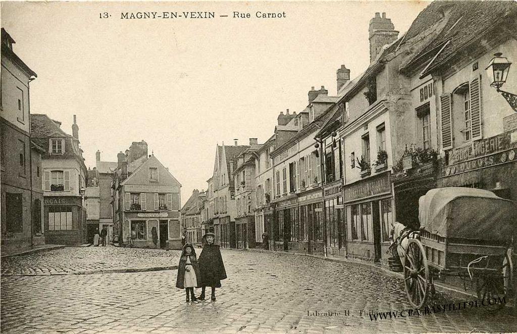 magny en vexin rue carnot cartes postales anciennes