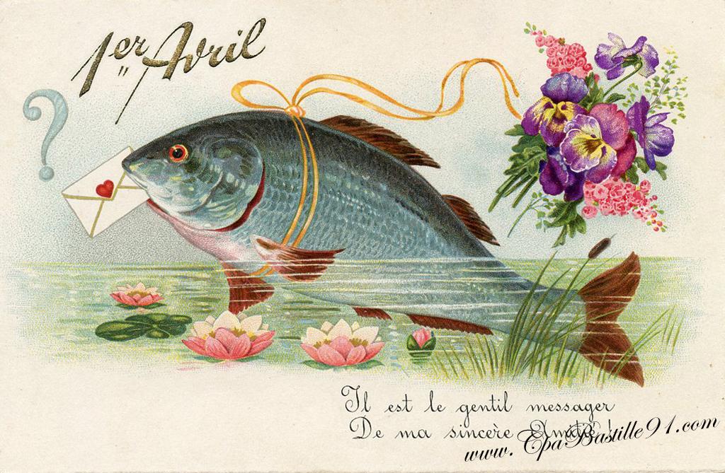 Carte ancienne – Premier Avril- Il est le gentil messager | Cartes Postales  Anciennes