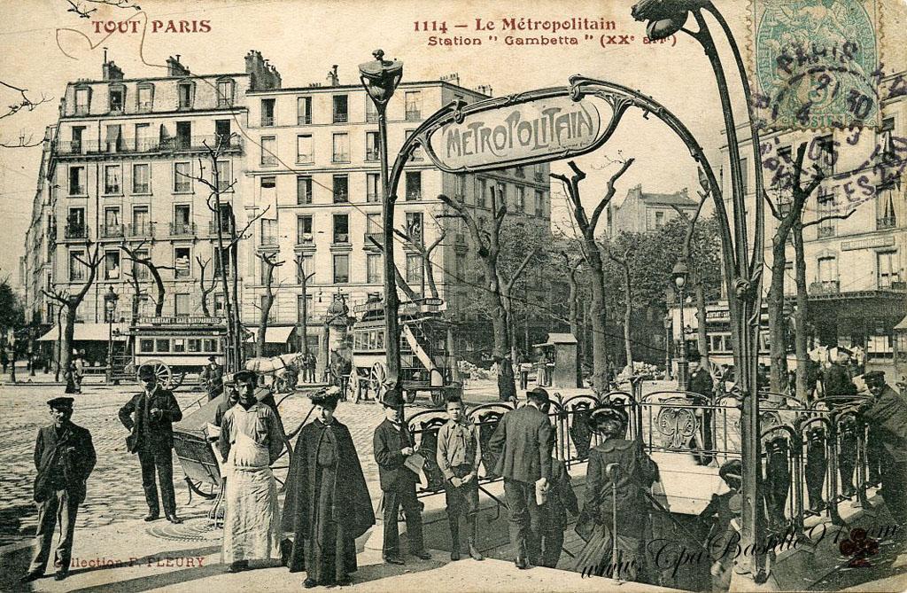 Restaurants Place Gambetta Paris
