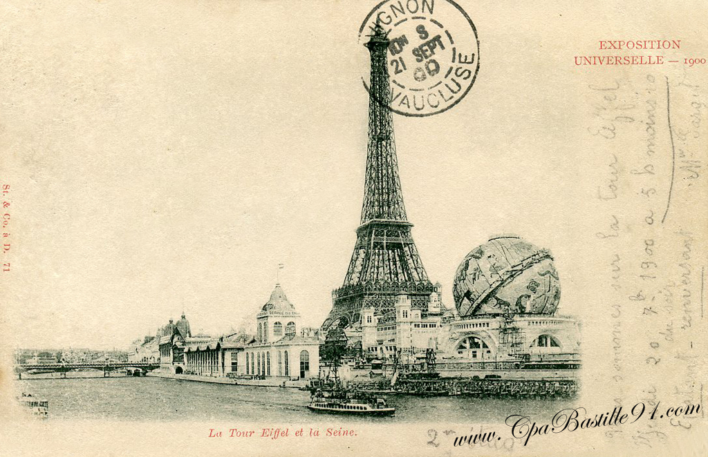 Paris Carte Postale De L Exposition Universelle De 1900