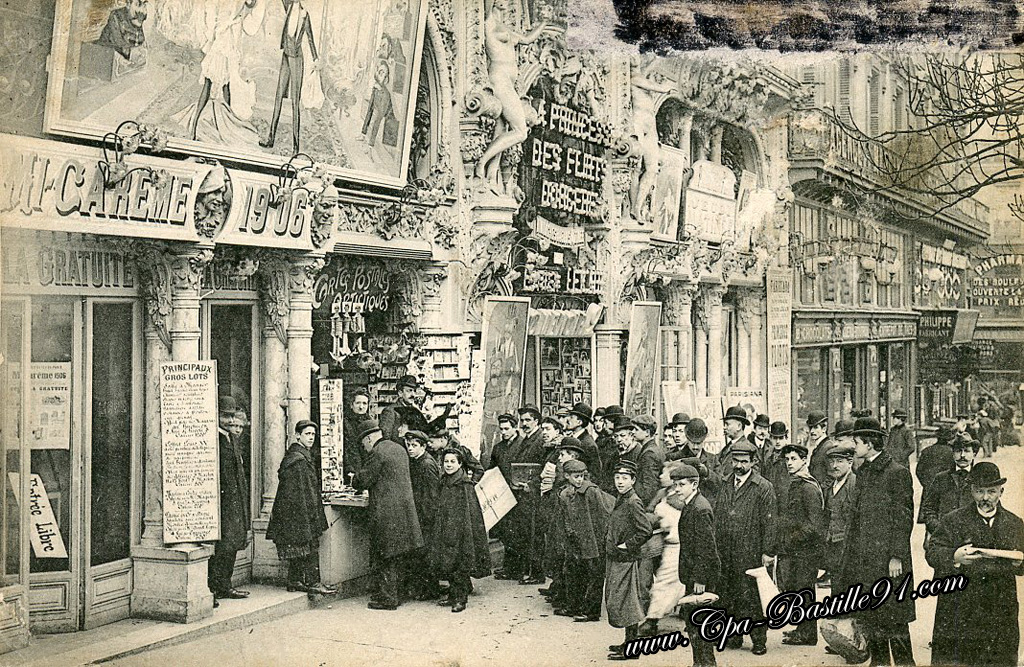 carte postale ancienne du caf concert le parisiana de 1906 cartes postales anciennes. Black Bedroom Furniture Sets. Home Design Ideas