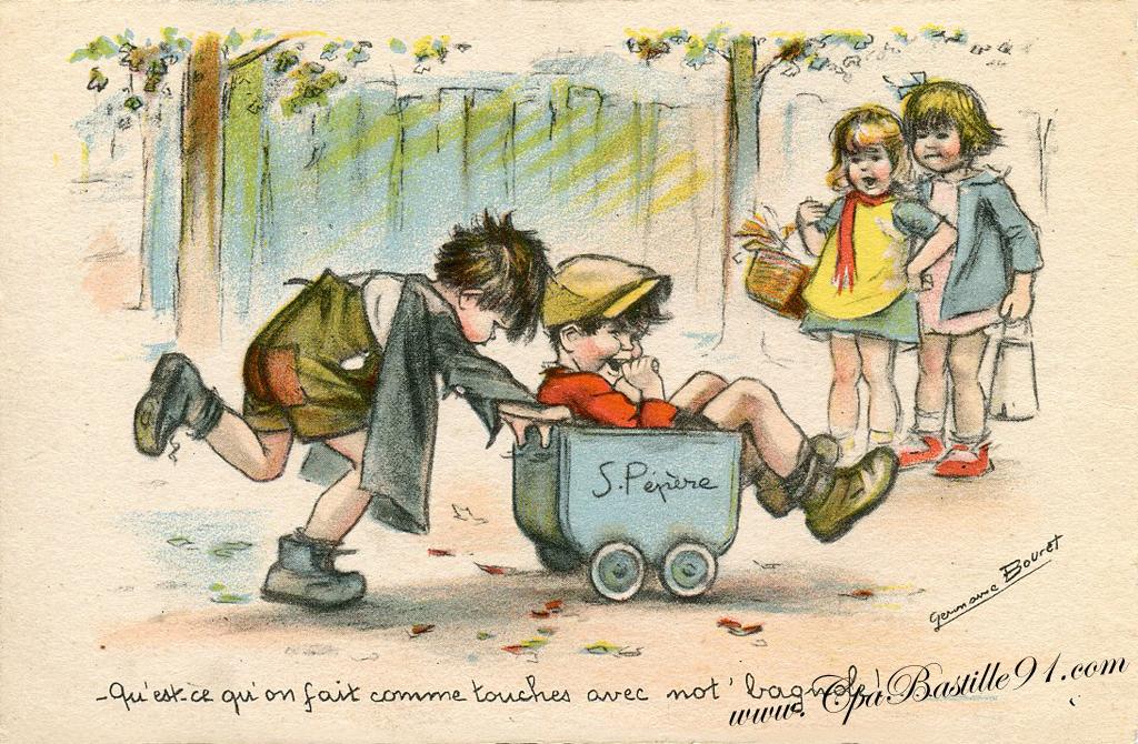 carte postale germaine bouret