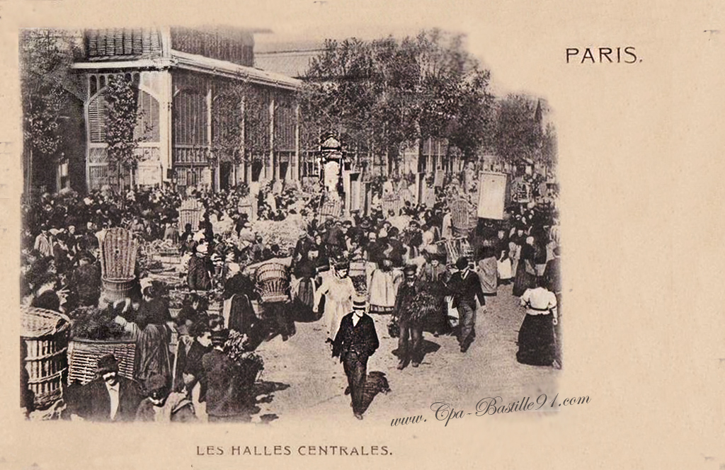 Les halles cartes postales anciennes for Les photos de paris