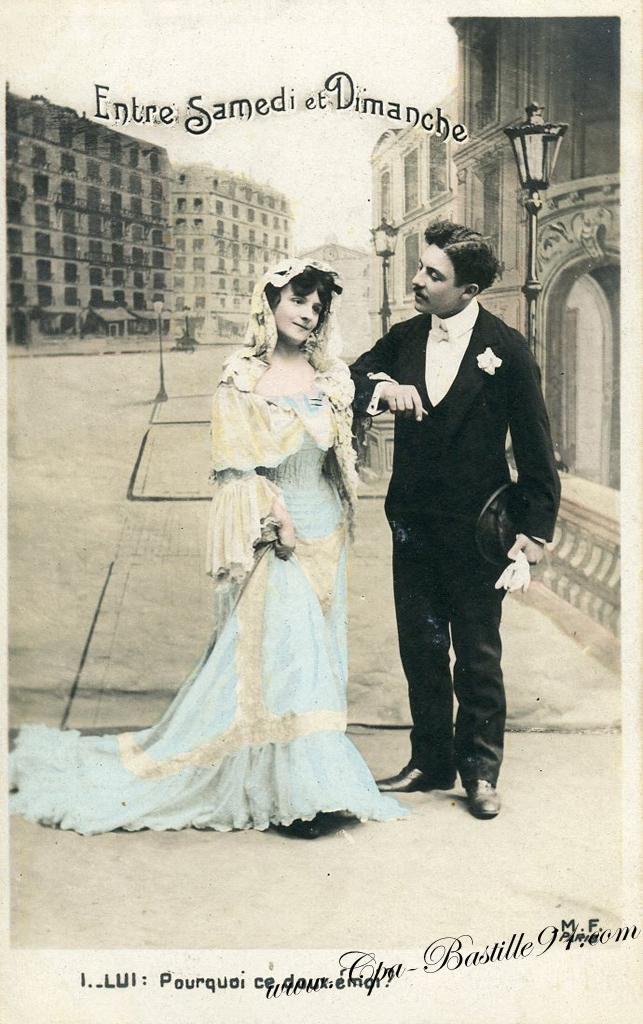 Les Amoureux de 1900 entre Samedi et Dimanche | Cartes Postales ...