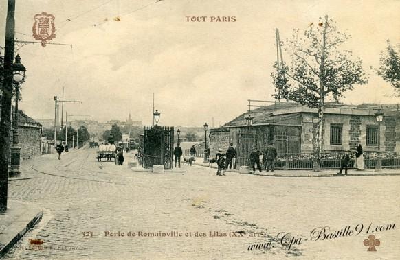 Tout paris tramway porte de romainville et des lilas en 1900 cartes postales anciennes - Piscine des tourelles porte des lilas ...