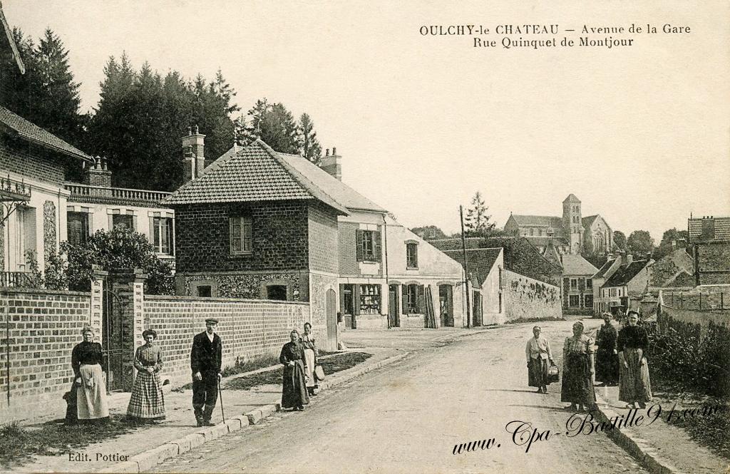 Carte postale ancienne de oulchy le ch teau avenue de la - Bureau de change paris gare de l est ...