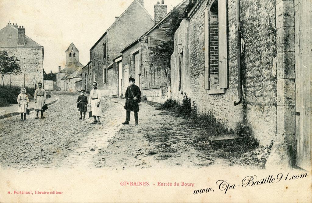 Extrêmement Carte Postale Ancienne de Givraines – l'Entrée du Bourg | Cartes  JD31