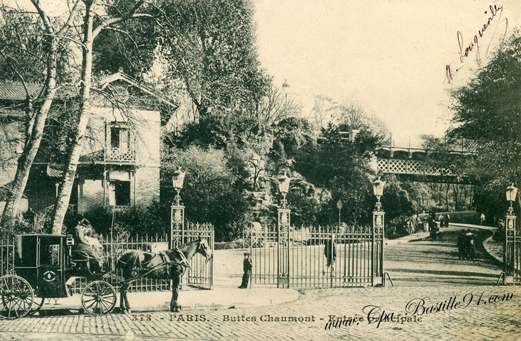 Carte Buttes Chaumont.Paris Buttes Chaumont Entree Principale Rue Manin Cartes
