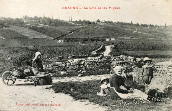 21- Beaune-La cote et les Vignes-éditeur Ronco Ainé - Cliquez sur la carte pour l'agrandir et en voir tous les détails
