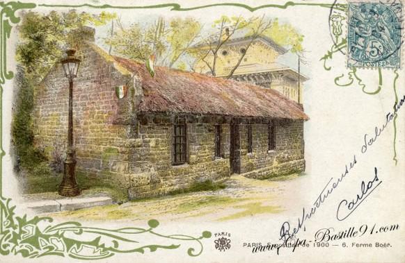 Ferme Boër-Afrique du Sud-de l'exposition Universelle de 1900 - Cliquez sur la carte pour l'agrandir et en voir tous les détails