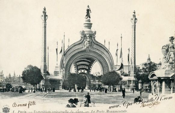 La Porte Monumentale de l'exposition universelle de 1900 à Paris -  Cliquez sur la carte pour l'agrandir et en voir tous les détails