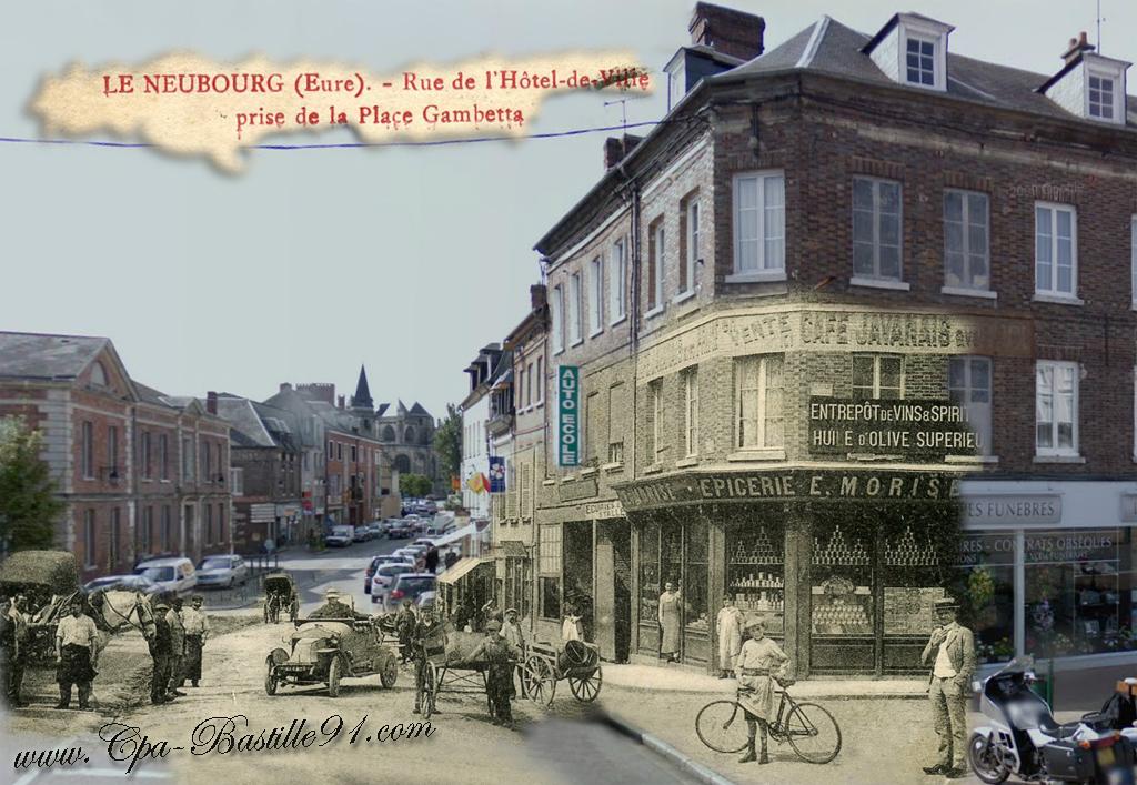 Le neubourg rue de l h tel de ville prise place gambetta for Piscine le neubourg