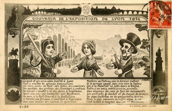 Souvenir-de-l'exposition de Lyon en 1914 - Cliquez sur la carte pour l'agrandir et en voir tous les détails