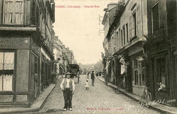 14-Orbec-Calvados-la Grande Rue - Cliquez sur la carte pour l'agrandir et en voir tous les détails