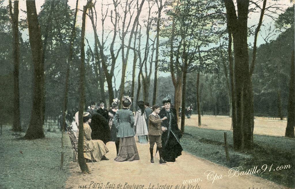 Image Bois De Boulogne : 16arrt-Bois de boulogne-le sentier de la vertu – sur la carte pour l