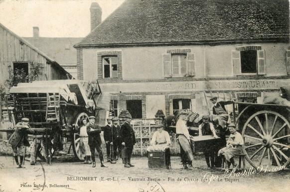 28-Belhomert-Vautrait-Bertin-fin de chasse 1911- le départ - Cliquez sur la carte pour l'agrandir et en voir tous les détails