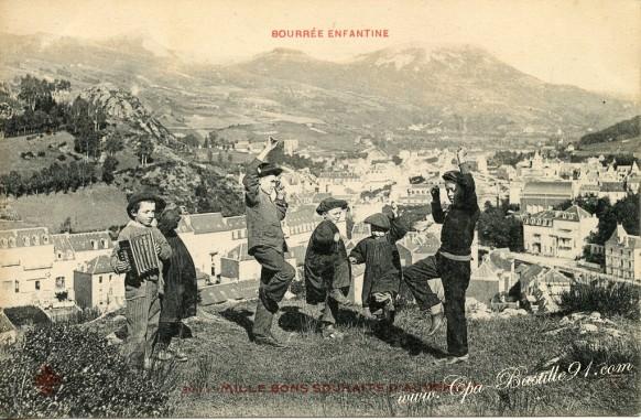 63-Bourreé enfantine-Mille bons souhaits d'Auvergne - Cliquez sur la carte pour l'agrandir et en voir tous les détails