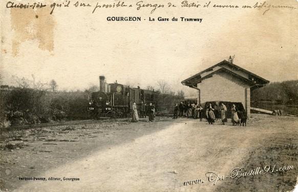 Gourgeon-La Gare du Tramway - Cliquez sur la carte pour l'agrandir et en voir tous les détails