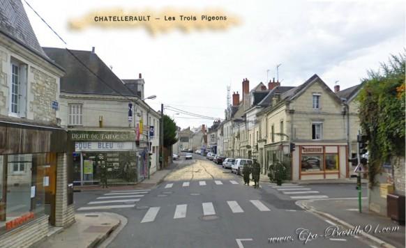 Carte postale ancienne de ch tellerault les trois - Bureau change bastille ...