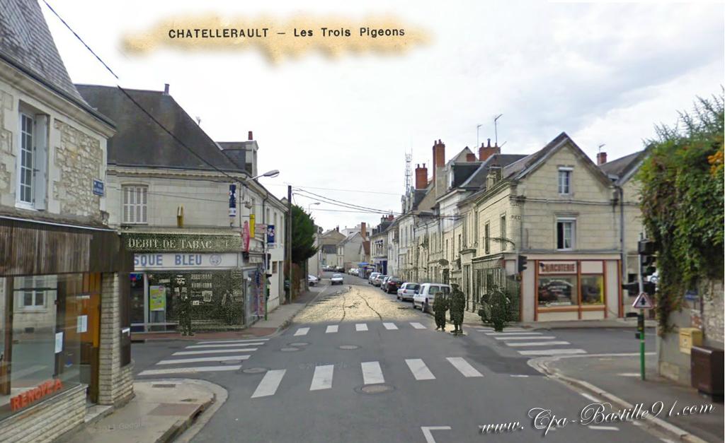 Carte Postale Ancienne De Ch 226 Tellerault Les Trois
