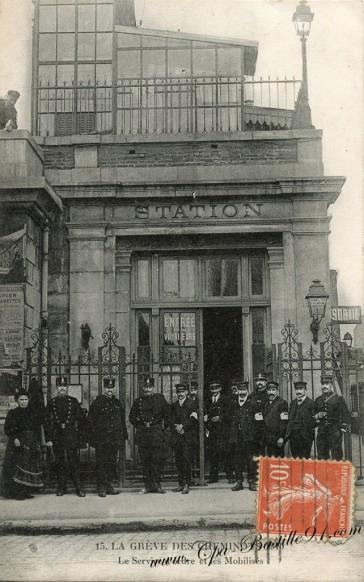 La Gréve des cheminots en 1910-le service d'ordre et les Mobilisés - Cliquez sur la carte pour l'agrandir et en voir tous les détails