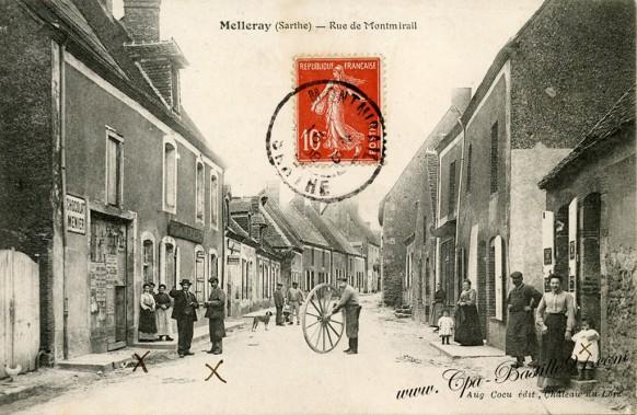 Melleray-Rue de Montmirail - Cliquez  sur la carte pour l'agrandir et en voir tous les détails