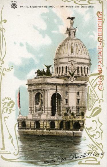 Palais des états-Unis Paris exposition Universelle de 1900 - Cliquez sur la carte pour l'agrandir et en voir tous les détails