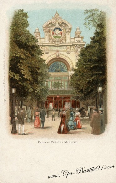 Paris- Le Théâtre Marigny - Cliquez sur la carte pour l'agrandir et en voir tous les détails