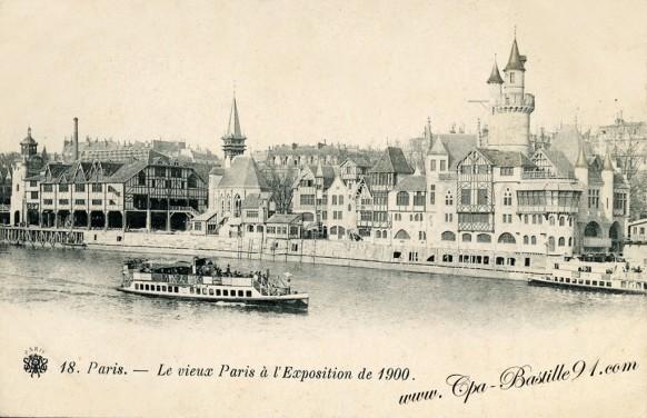 Vieux Paris à l'exposition Universelle de 1900 - Cliquez sur la carte pour l'agrandir et en voir tous les détails