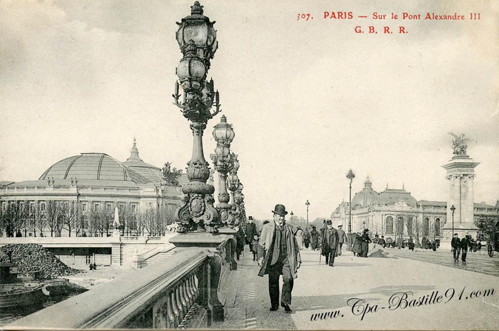Extrêmement Le Paris de 1900 – Sur le Pont Alexandre III | Cartes Postales  JD31