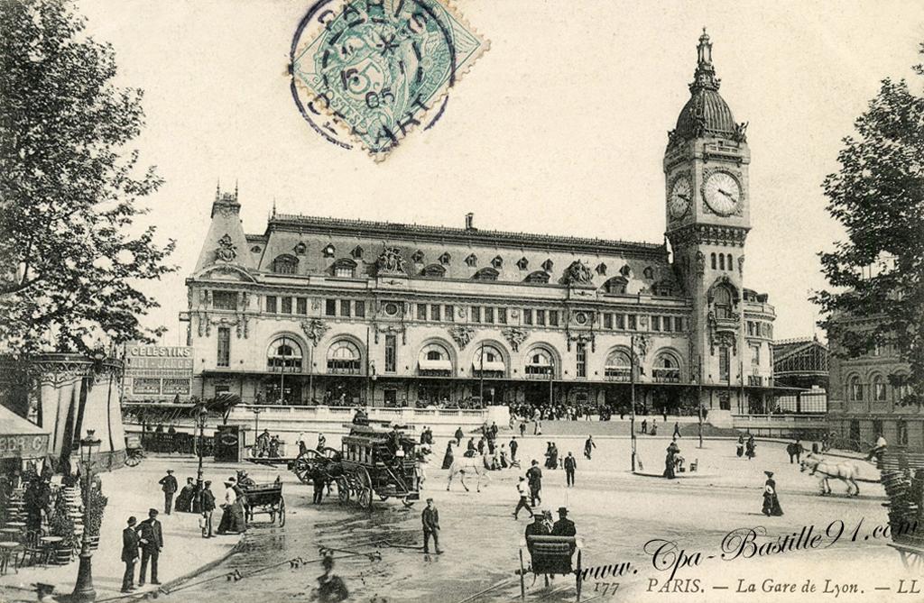 Extrêmement Paris – La Gare de Lyon en 1900 – la compagnie P-L-M | Cartes  YU57