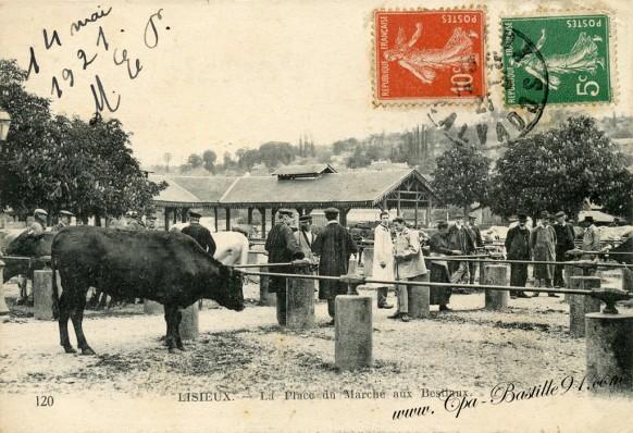 14-Lisieux-La Place du Marché aux Bestiaux - Cliquez sur la carte pour l'agrandir et en voir tous les détails
