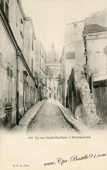 18arrt-la rue Sainte-Rustique à Montmartre - Cliquez sur la carte pour l'agrandir et en voir tous les détails