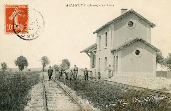 25-Amancey-La Gare - Cliquez sur la carte pour l'agrandir et en voir tous les détails
