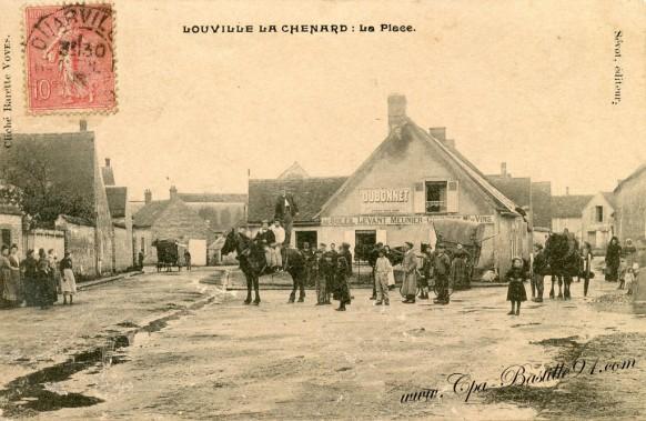 28-Louville la Chenard-la place - Cliquez sur la carte pour l'agrandir et en voir tous les détails