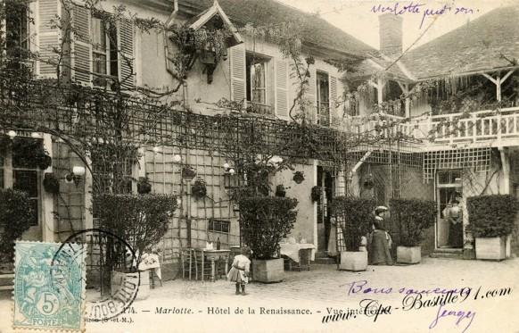 77- Marlotte - hôtel de la renaissance-Vue intérieure - Cliquez sur la carte pour l'agrandir et en voir tous les détails