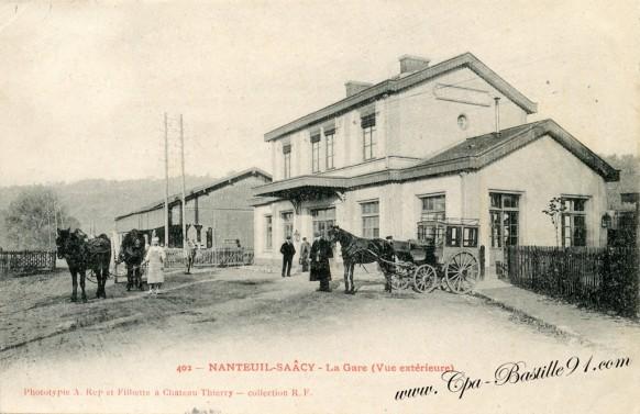 77-Nanteuil-Saacy-La Gare vue extérieure - Cliquez sur la carte pour l'agrandir et en voir tous les détails