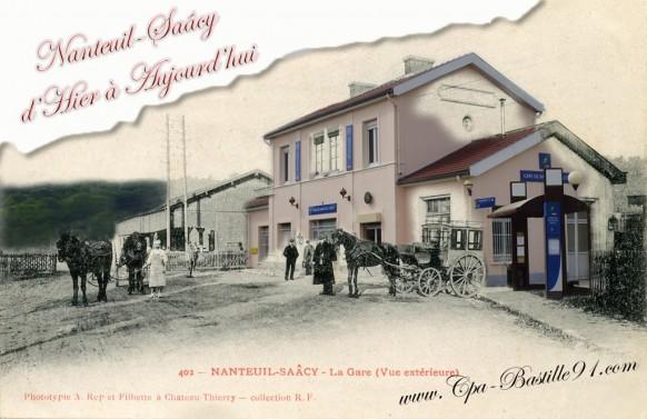 77-Nanteuil-Saacy-La gare d'hier a aujourd'hui - Cliquez sur la carte pour l'agrandir et en voir tous les détails