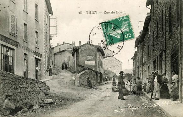 Thizy - Rue du Bourg - Cliquez sur la carte pour l'agrandir et en voir tous les détails