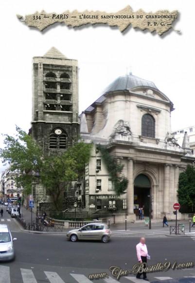 Église Saint-Nicolas-du-Chardonnet- 100 ans après - Cliquez sur la carte pour l'agrandir et en voir tous les détails