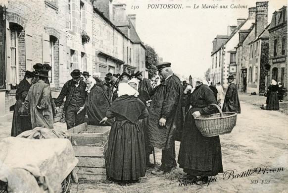 50-Pontorson-Le marché-aux-cochons - Cliquez sur la carte pour l'agrandir et en voir tous les détails