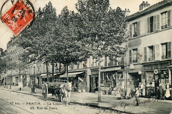 93-Pantin-La librairie Borni-28 rue de paris- Cliquez sur la carte pour l'agrandir et en voir tous les détails